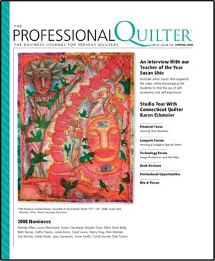 Current issue of Professional Quilter